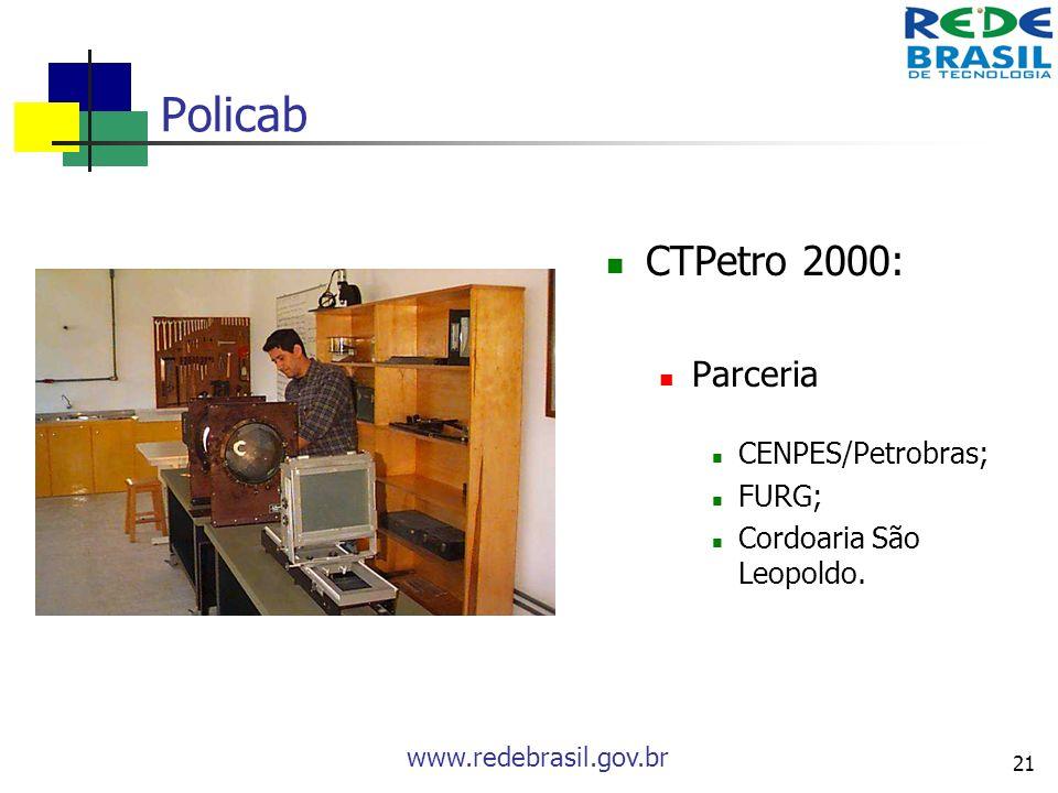 Policab CTPetro 2000: Parceria CENPES/Petrobras; FURG;