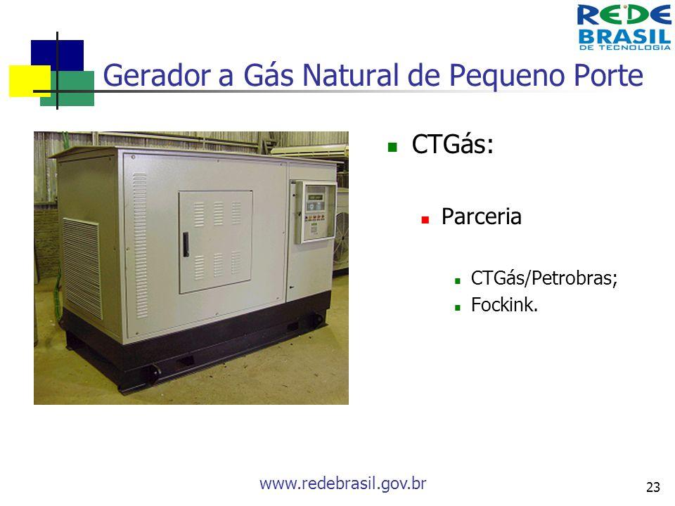 Gerador a Gás Natural de Pequeno Porte