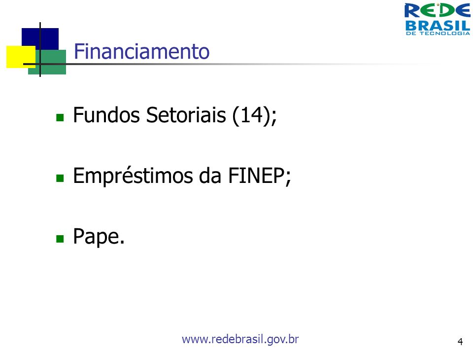 Financiamento Fundos Setoriais (14); Empréstimos da FINEP; Pape.