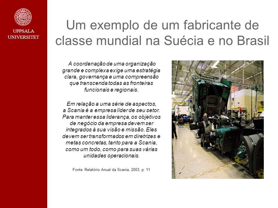 Um exemplo de um fabricante de classe mundial na Suécia e no Brasil