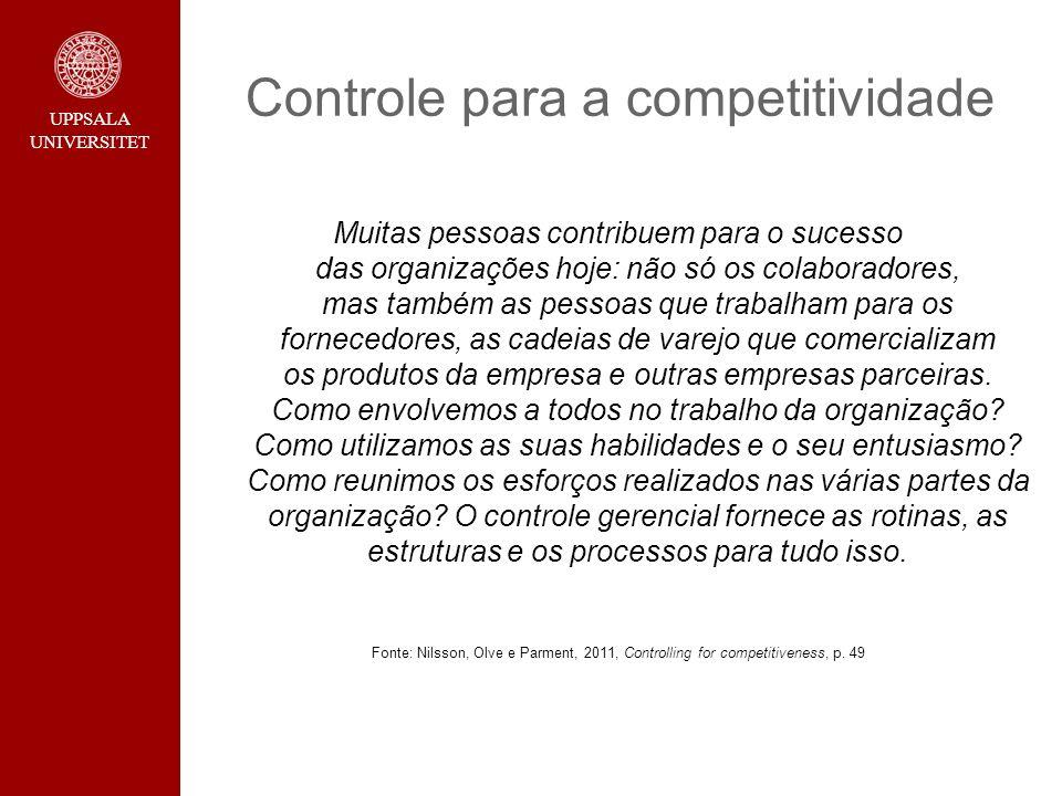 Controle para a competitividade