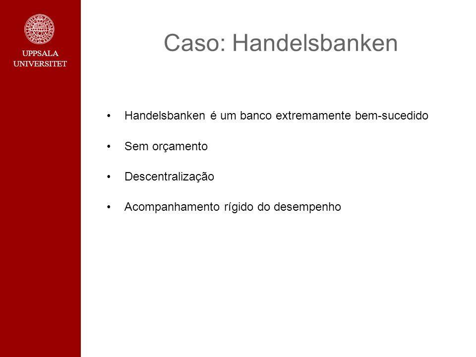 Caso: Handelsbanken Handelsbanken é um banco extremamente bem-sucedido