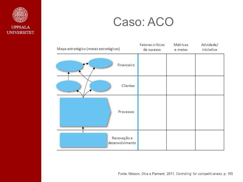 Caso: ACO Mapa estratégico (metas estratégicas)