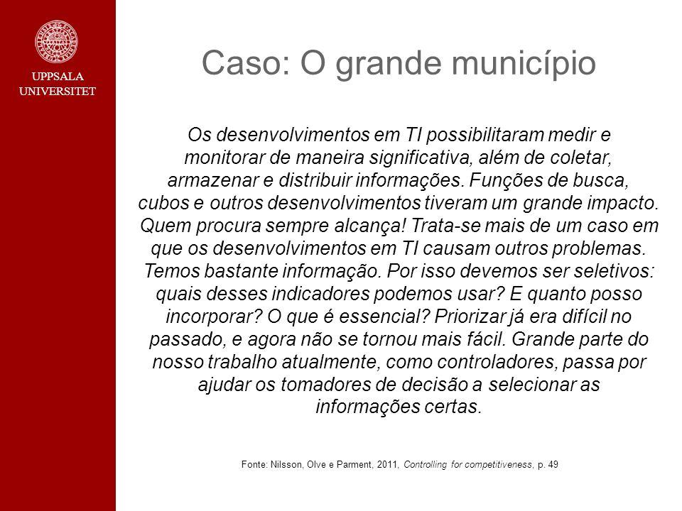 Caso: O grande município Os desenvolvimentos em TI possibilitaram medir e monitorar de maneira significativa, além de coletar, armazenar e distribuir informações.