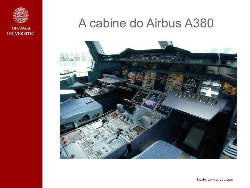 A cabine do Airbus A380 Fonte: www.airbus.com