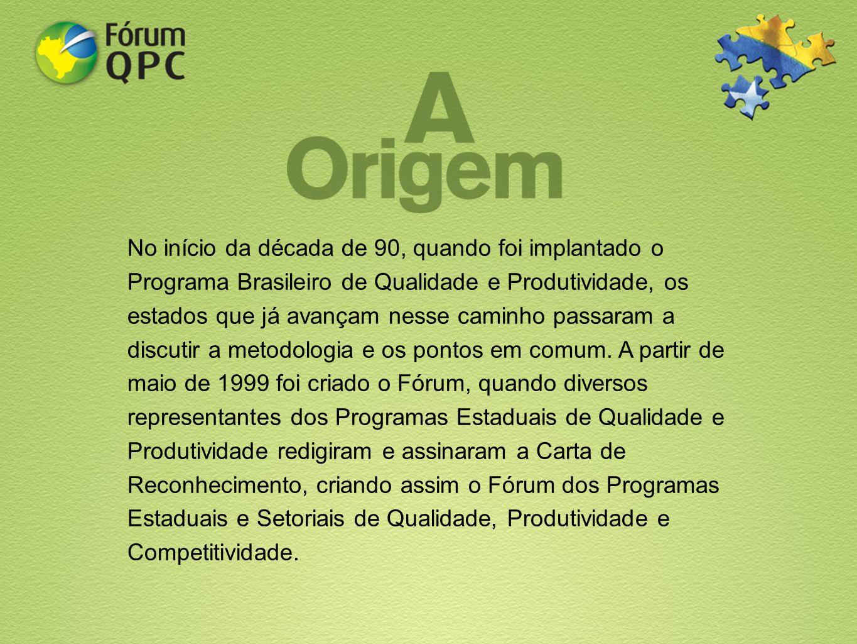 No início da década de 90, quando foi implantado o Programa Brasileiro de Qualidade e Produtividade, os estados que já avançam nesse caminho passaram a discutir a metodologia e os pontos em comum.