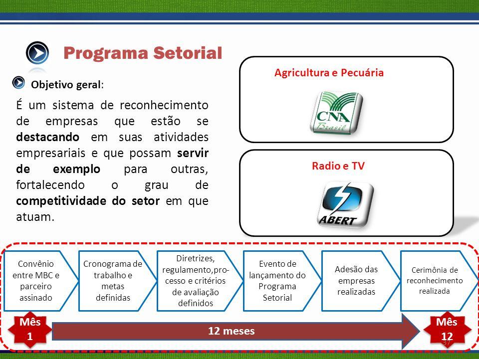 Programa Setorial Agricultura e Pecuária. Objetivo geral: