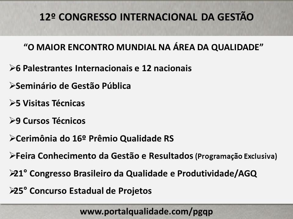 12º CONGRESSO INTERNACIONAL DA GESTÃO