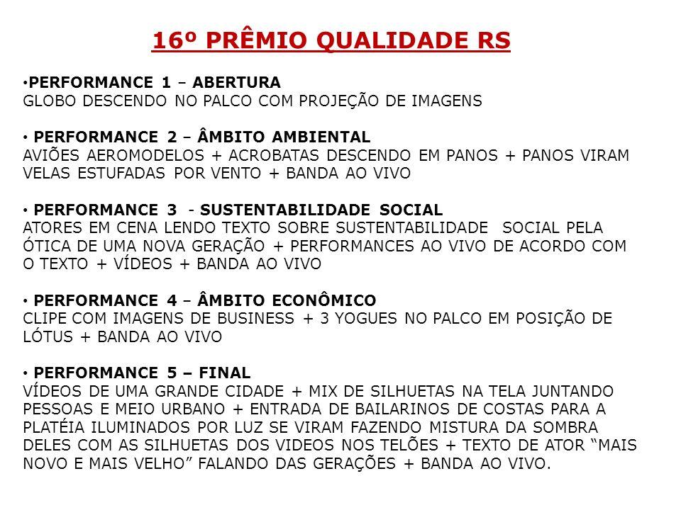 16º PRÊMIO QUALIDADE RS PERFORMANCE 1 – ABERTURA