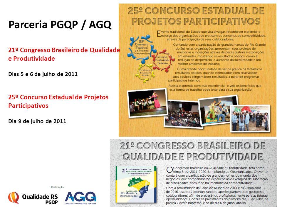 Parceria PGQP / AGQ 21º Congresso Brasileiro de Qualidade