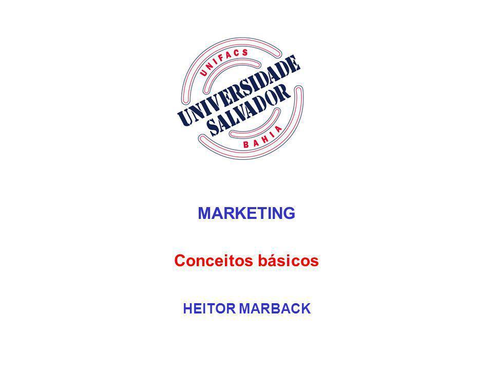 MARKETING Conceitos básicos HEITOR MARBACK