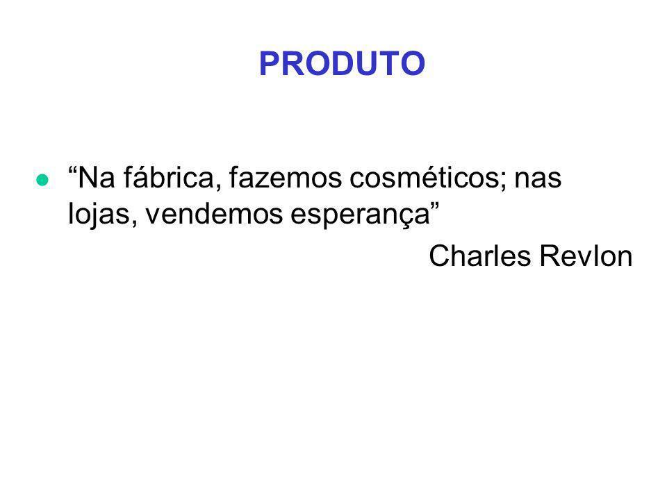 PRODUTO Na fábrica, fazemos cosméticos; nas lojas, vendemos esperança Charles Revlon