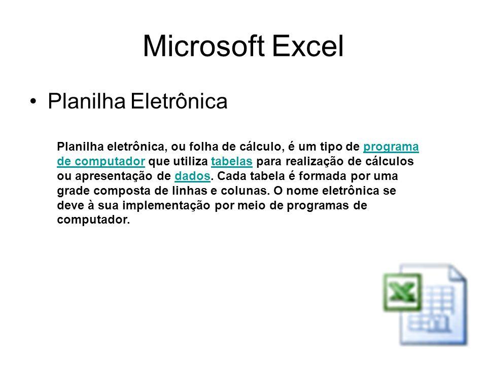 Microsoft Excel Planilha Eletrônica