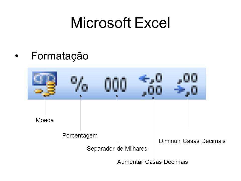 Microsoft Excel Formatação Moeda Porcentagem Diminuir Casas Decimais