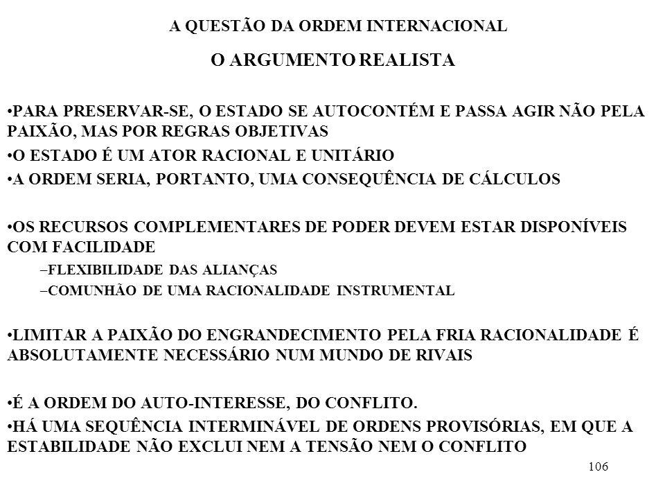 A QUESTÃO DA ORDEM INTERNACIONAL