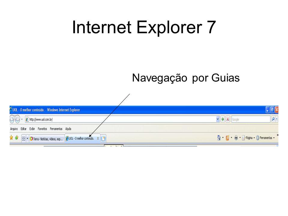 Internet Explorer 7 Navegação por Guias