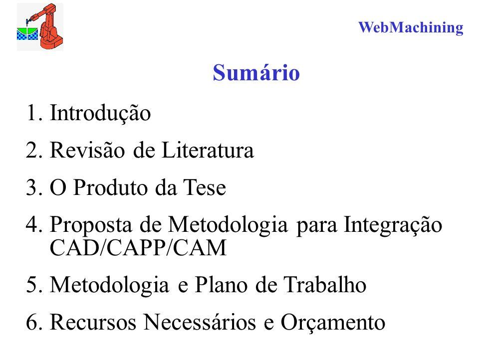 Proposta de Metodologia para Integração CAD/CAPP/CAM