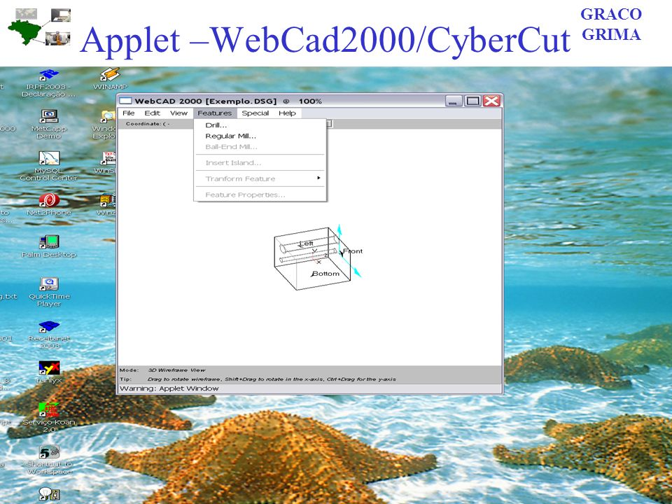 Applet –WebCad2000/CyberCut