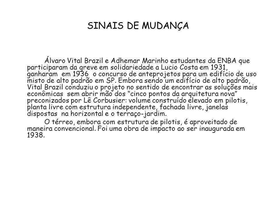 SINAIS DE MUDANÇA