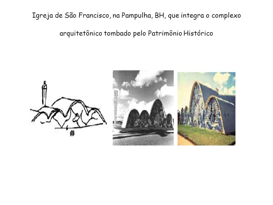 Igreja de São Francisco, na Pampulha, BH, que integra o complexo arquitetônico tombado pelo Patrimônio Histórico