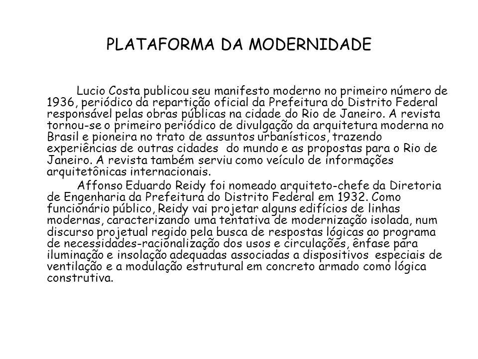 PLATAFORMA DA MODERNIDADE