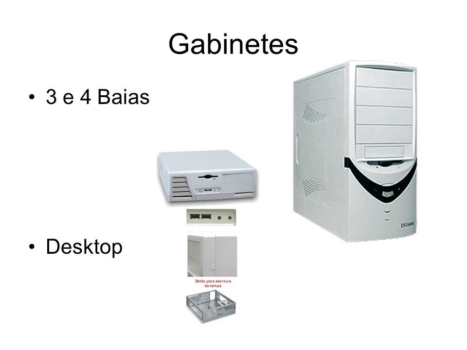 Gabinetes 3 e 4 Baias Desktop