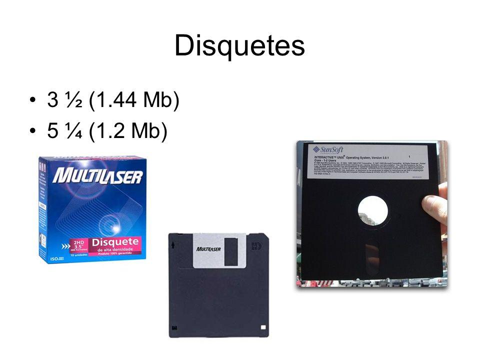 Disquetes 3 ½ (1.44 Mb) 5 ¼ (1.2 Mb)