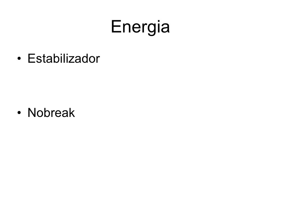 Energia Estabilizador Nobreak