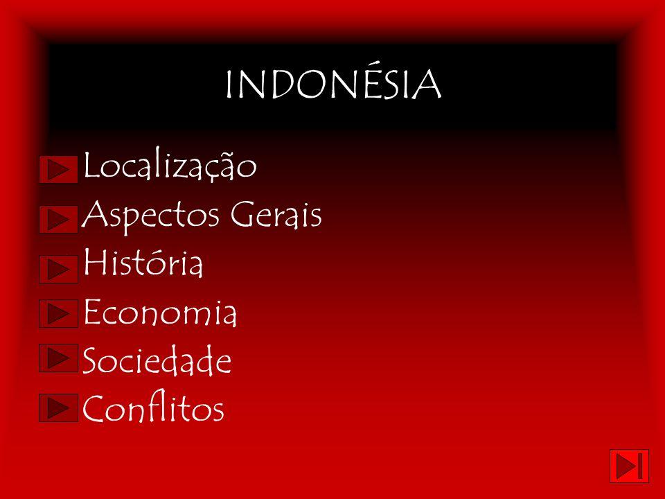 INDONÉSIA Localização Aspectos Gerais História Economia Sociedade