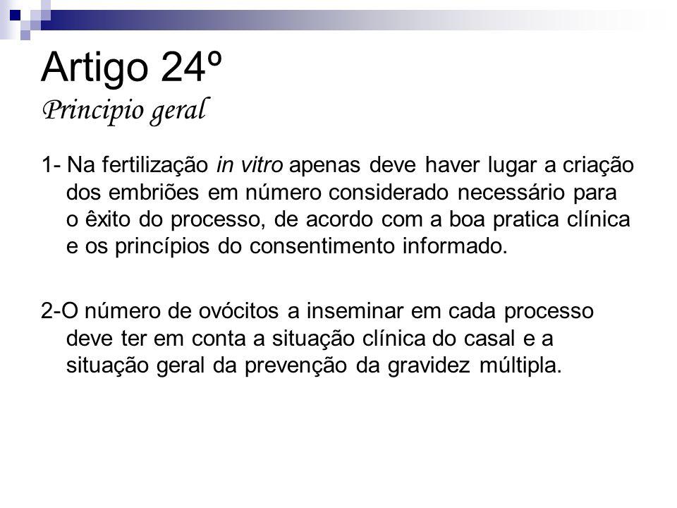 Artigo 24º Principio geral