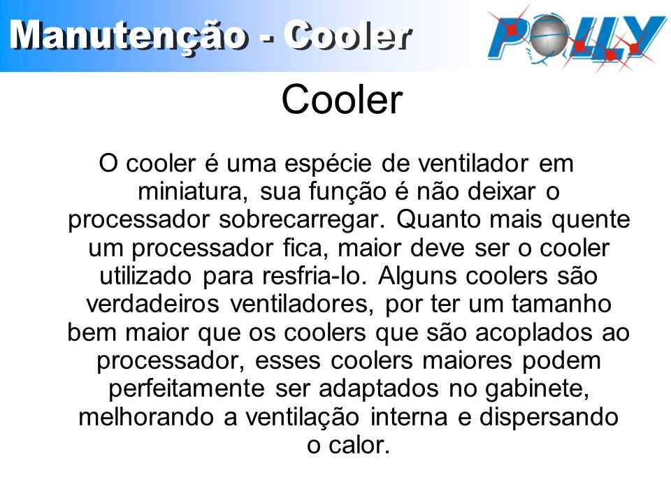 Cooler Manutenção - Cooler