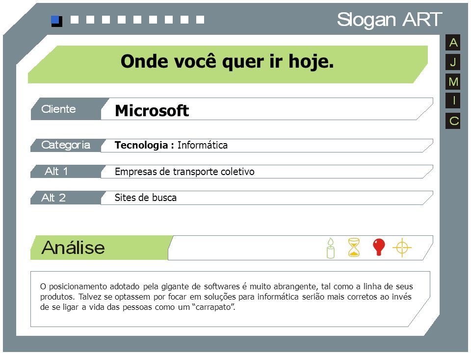 Onde você quer ir hoje. Microsoft Tecnologia : Informática