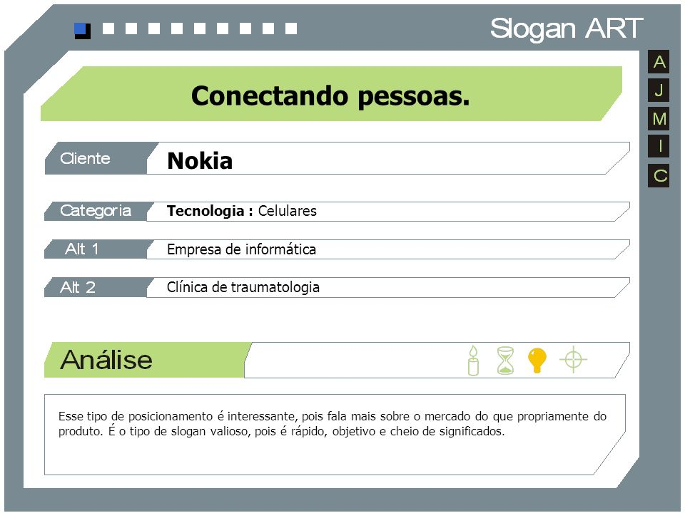 Conectando pessoas. Nokia Tecnologia : Celulares