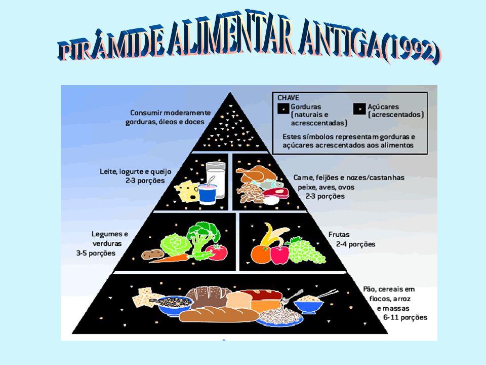 PIRÂMIDE ALIMENTAR ANTIGA(1992)