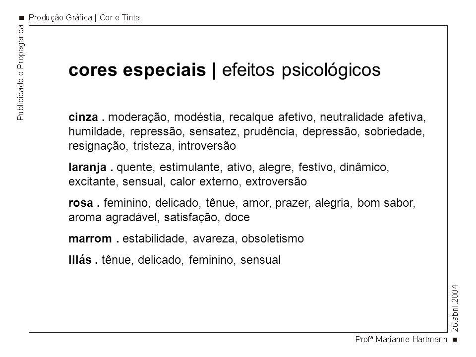 cores especiais | efeitos psicológicos
