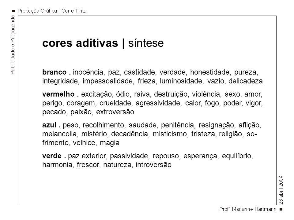 cores aditivas | síntese