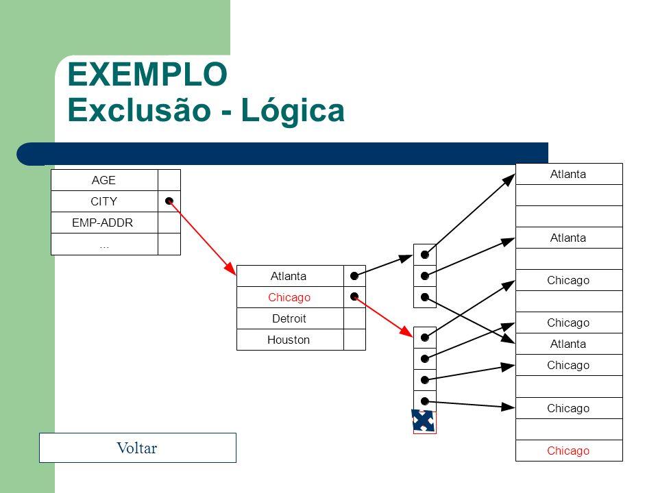 EXEMPLO Exclusão - Lógica