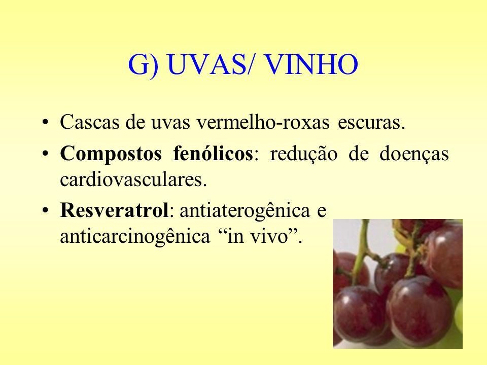 G) UVAS/ VINHO Cascas de uvas vermelho-roxas escuras.