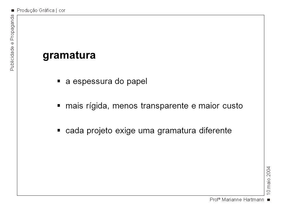 gramatura a espessura do papel