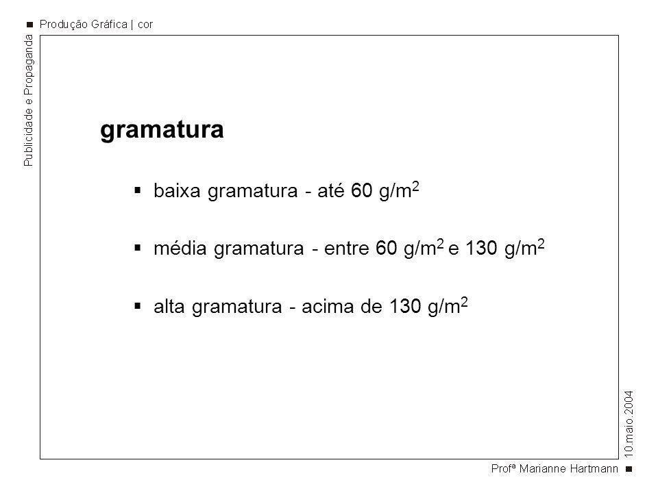 gramatura baixa gramatura - até 60 g/m2