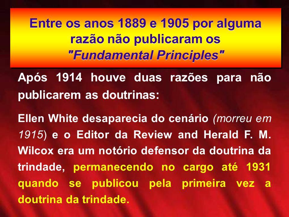 Entre os anos 1889 e 1905 por alguma razão não publicaram os