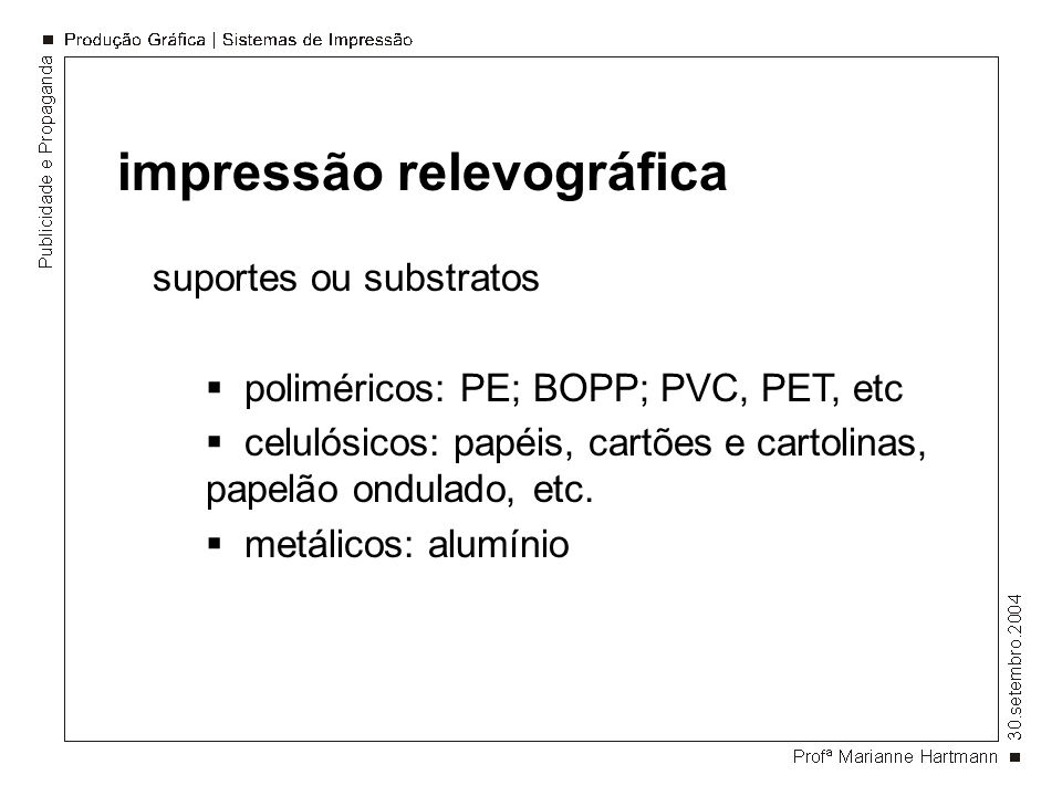 impressão relevográfica