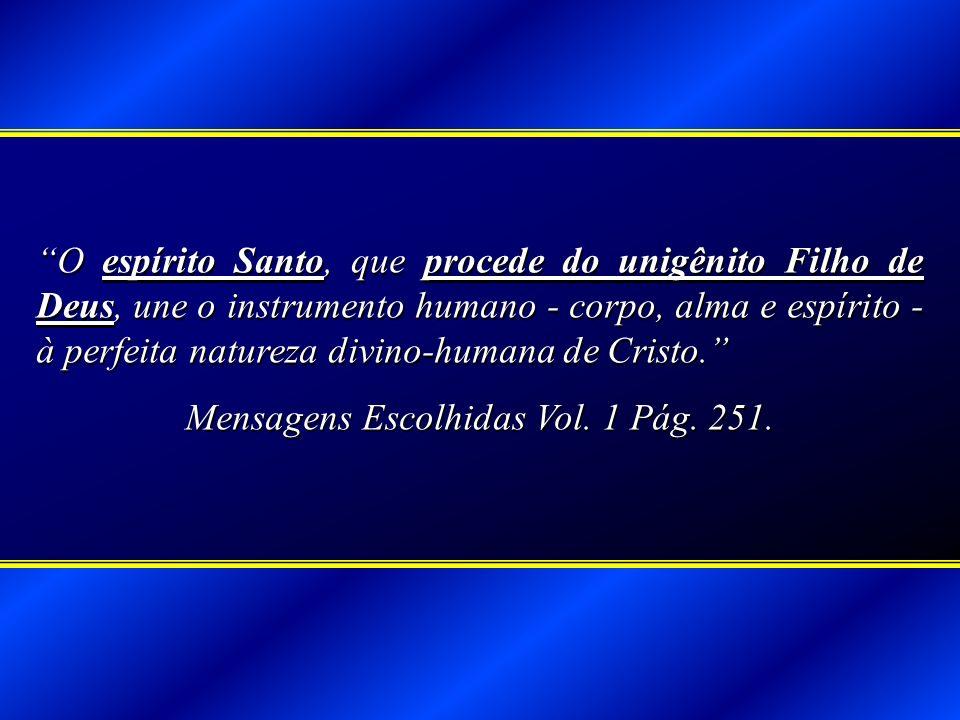 Mensagens Escolhidas Vol. 1 Pág. 251.