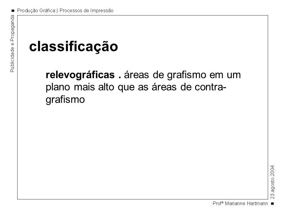 classificação relevográficas .