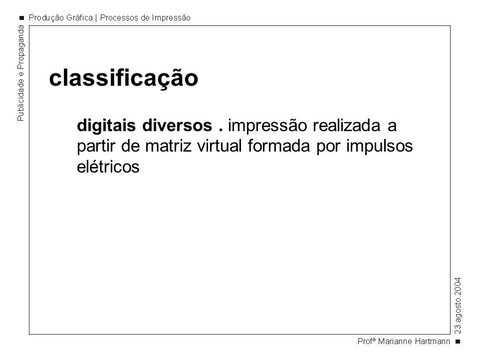 classificação digitais diversos .