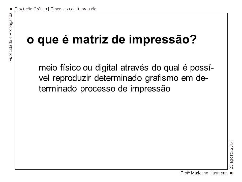 o que é matriz de impressão