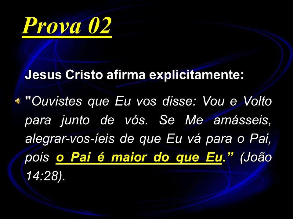 Prova 02 Jesus Cristo afirma explicitamente: