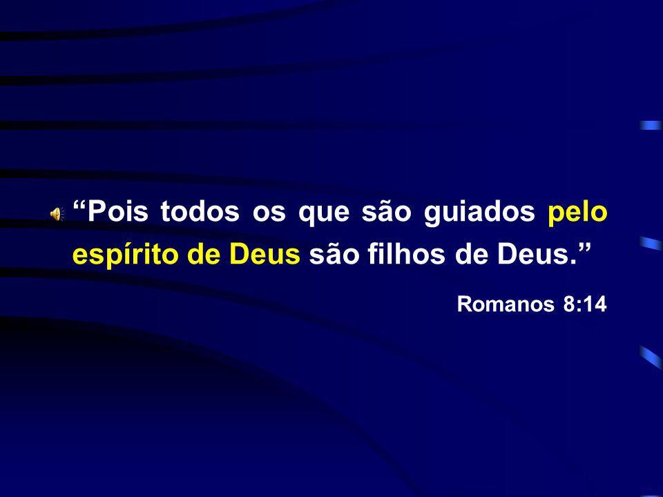 Pois todos os que são guiados pelo espírito de Deus são filhos de Deus.