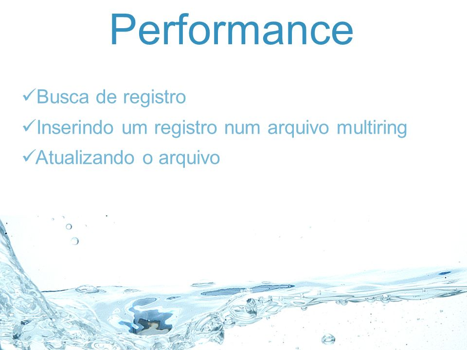 Performance Busca de registro