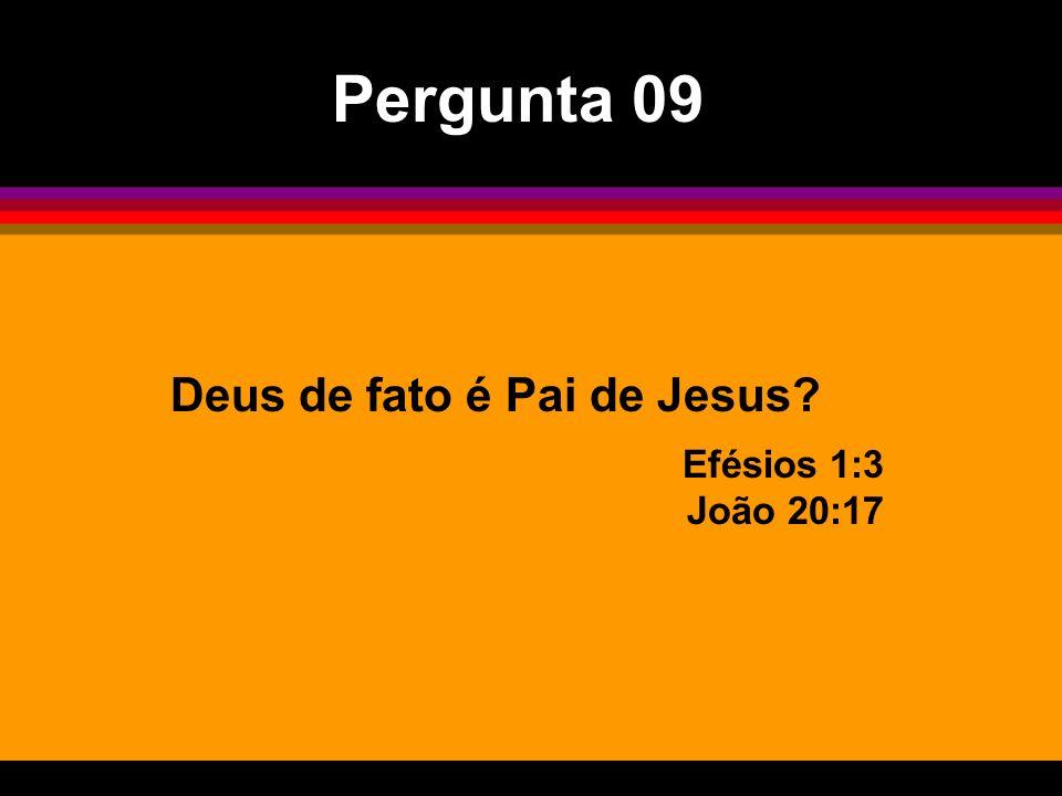 Pergunta 09 Deus de fato é Pai de Jesus Efésios 1:3 João 20:17